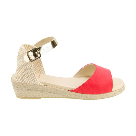 Sandalias de cuña marca La vida Rosa baratas, outlet 3