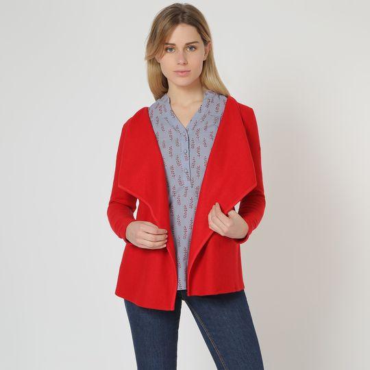 Cardigan rojo marca Trakabarraka barato