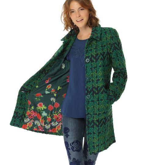 Abrigo verde marca Desigual barato, outlet