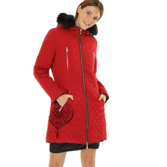 Anorak rojo reversible marca Desigual barato, outlet
