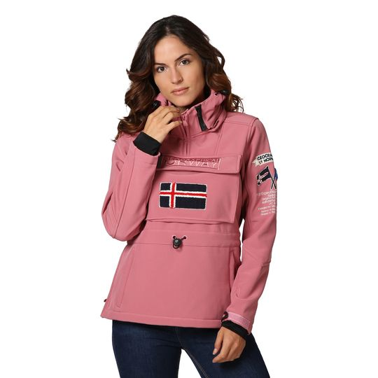 Anorak marca Geographical Norway rosa barato para mujer 2