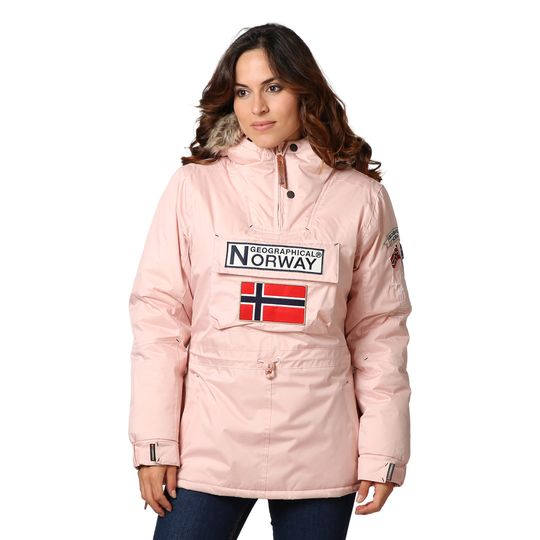 Anorak marca Geographical Norway rosa barato para mujer