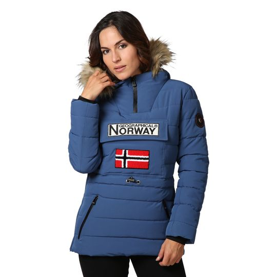 Anorak marca Geographical Norway azul barato para mujer
