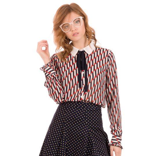 Camisa estampada otoño marca Minueto barata