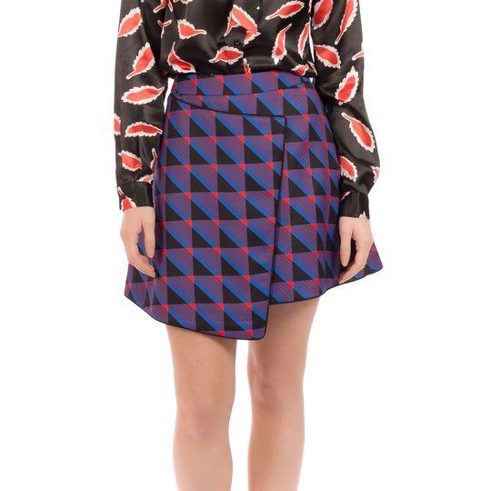 Falda estampada otoño marca Minueto barata
