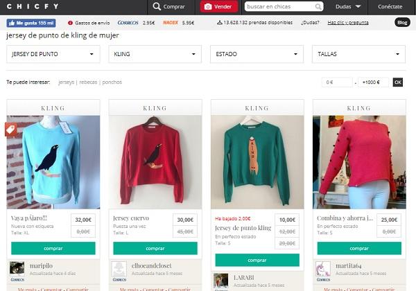 Vender ropa usada Chicfy
