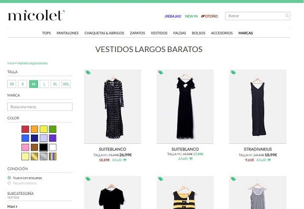 Vender ropa usada Micolet