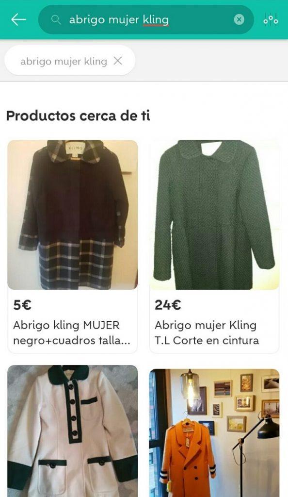 Vender ropa usada Wallapop