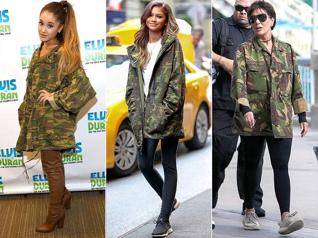 Look de camuflaje Ariana Grande