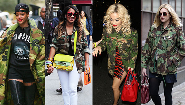 Look de camuflaje Rita Ora