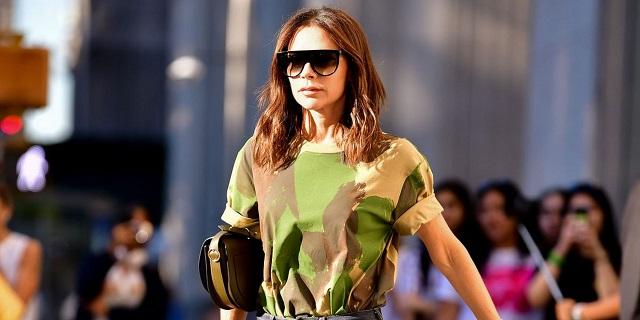 Look de camuflaje Victoria Beckham