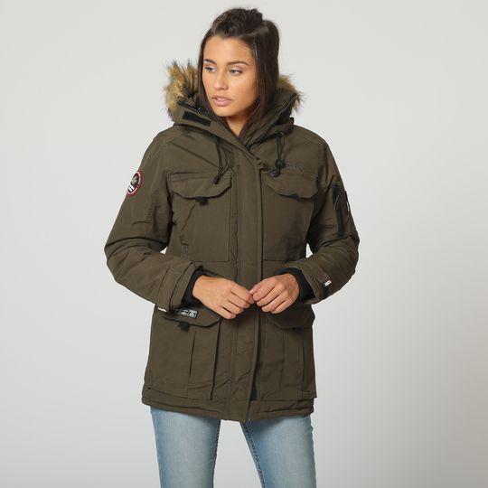 Anorak caqui marca Canadian Peak mujer barato