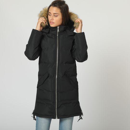 Anorak negro marca Canadian Peak mujer barato