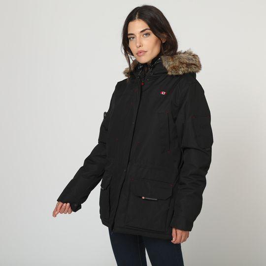 Anorak negro marca Canadian Peak mujer barato 2