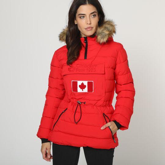 Anorak rojo marca Canadian Peak mujer barato