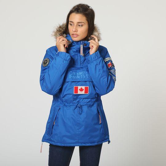 Anorak azul marca Canadian Peak mujer barato