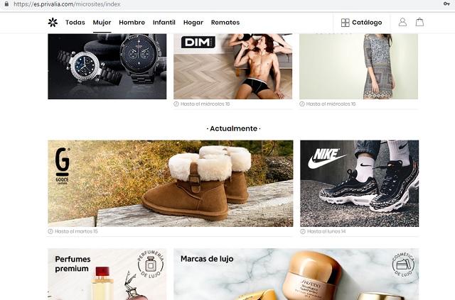 Mejores webs ropa marca barata España Privalia