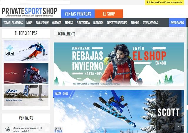Mejores webs ropa marca barata España Private Sport Shop
