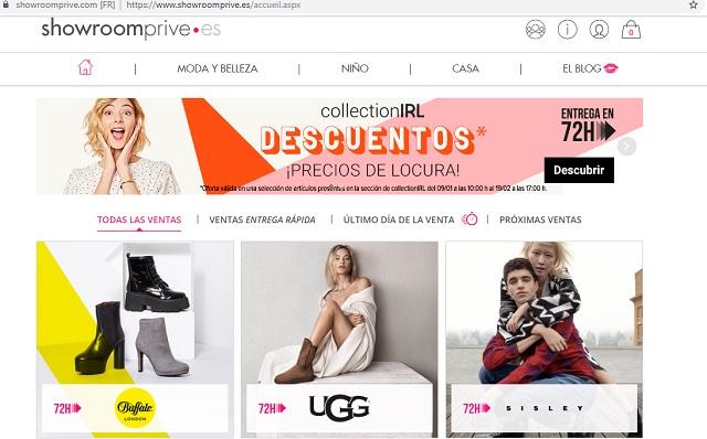 Mejores webs ropa marca barata España Showroom Privé
