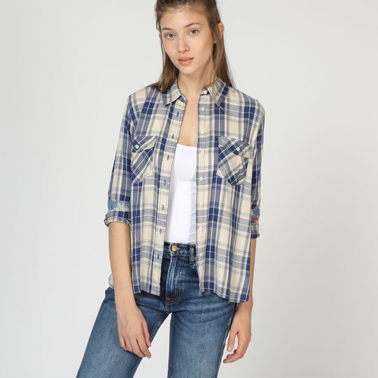 Camisa cuadros mujer marca Pepe Jeans barata