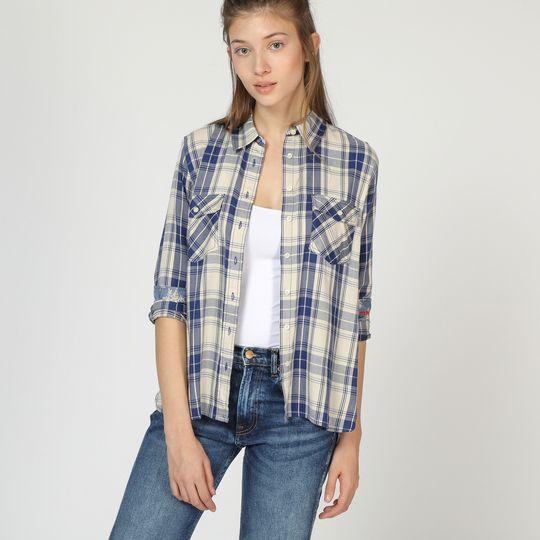 Camisa cuadros mujer marca Pepe Jeans barata