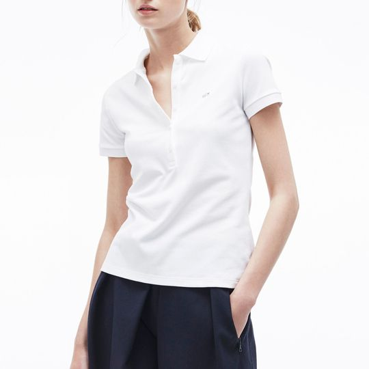 Polo Lacoste mujer blanco