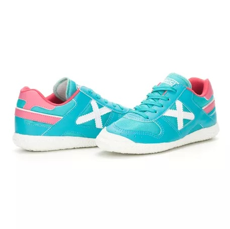 Zapatillas marca Munich mujer azules y rosas
