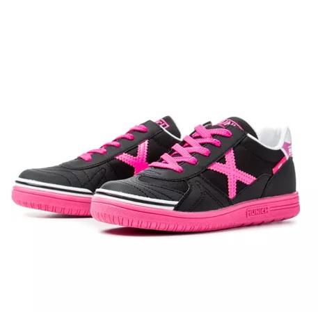 Zapatillas marca Munich mujer rosas y negras