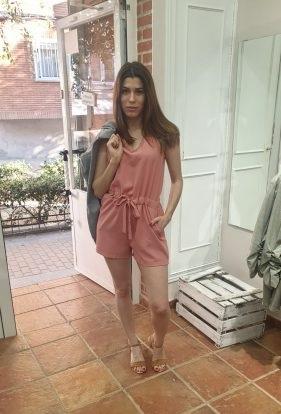 Mono corto rosa