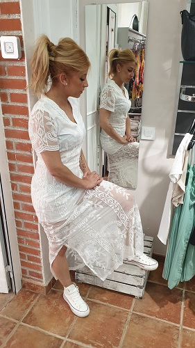 Vestido blanco boho