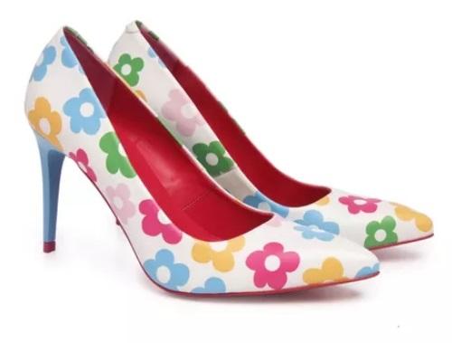 Zapato De Salón AGATHA RUIZ DE LA PRADA - piel Blanco Y Azul
