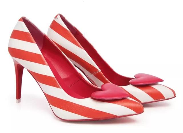 Zapato De Salón AGATHA RUIZ DE LA PRADA - piel Rojo Y Blanco