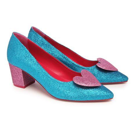Zapato De Salón AGATHA RUIZ DE LA PRADA - de tacón Azul Y Rosa