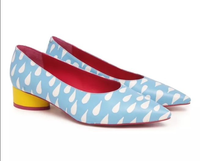 Zapato De Salón AGATHA RUIZ DE LA PRADA - piel Azul, Blanco Y Amarillo