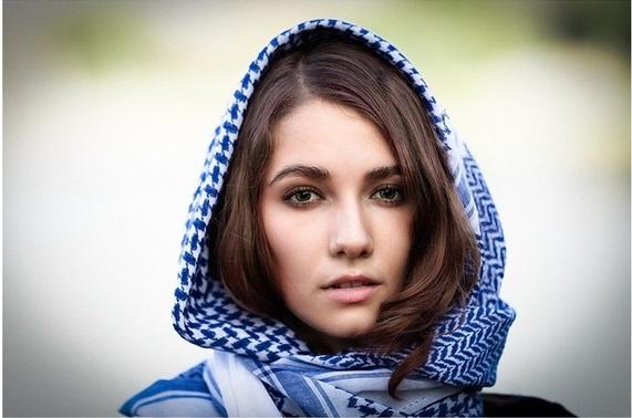 Shemagh azul para mujer