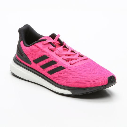 Zapatillas De Running Adidas mujer Response It Boost Rosa Flúor Y Negro