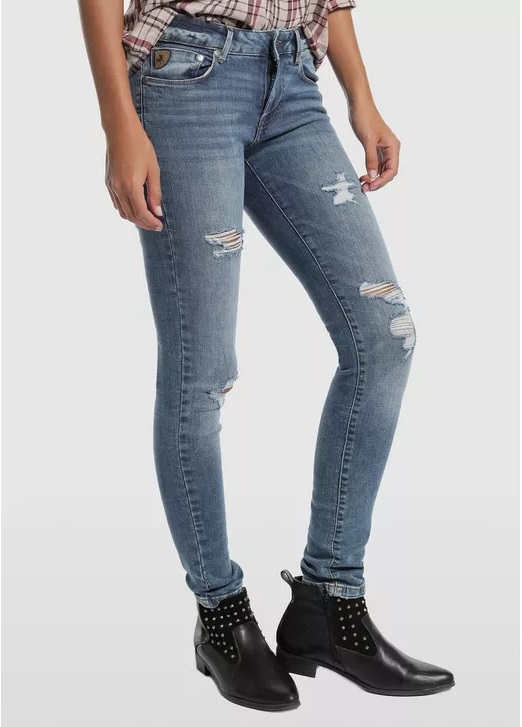 Pantalones vaqueros jeans marca Lois baratos azules
