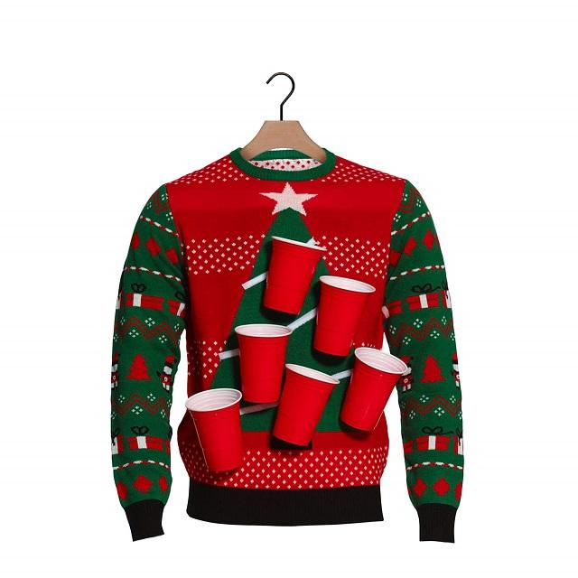 Jersey navideño árbol beer pong
