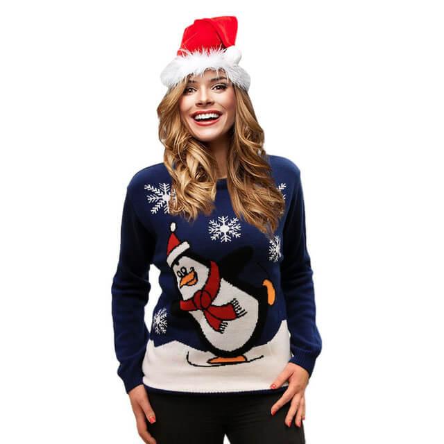 Jersey navideño pingüino