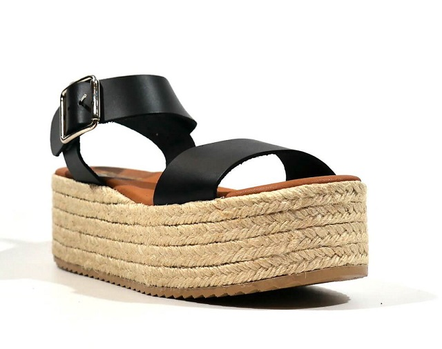 Sandalias de plataforma de yute